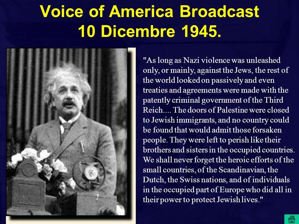 Voice of America Broadcast 10 Dicembre 1945.
