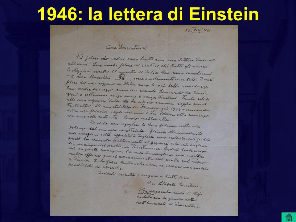 1946: la lettera di Einstein