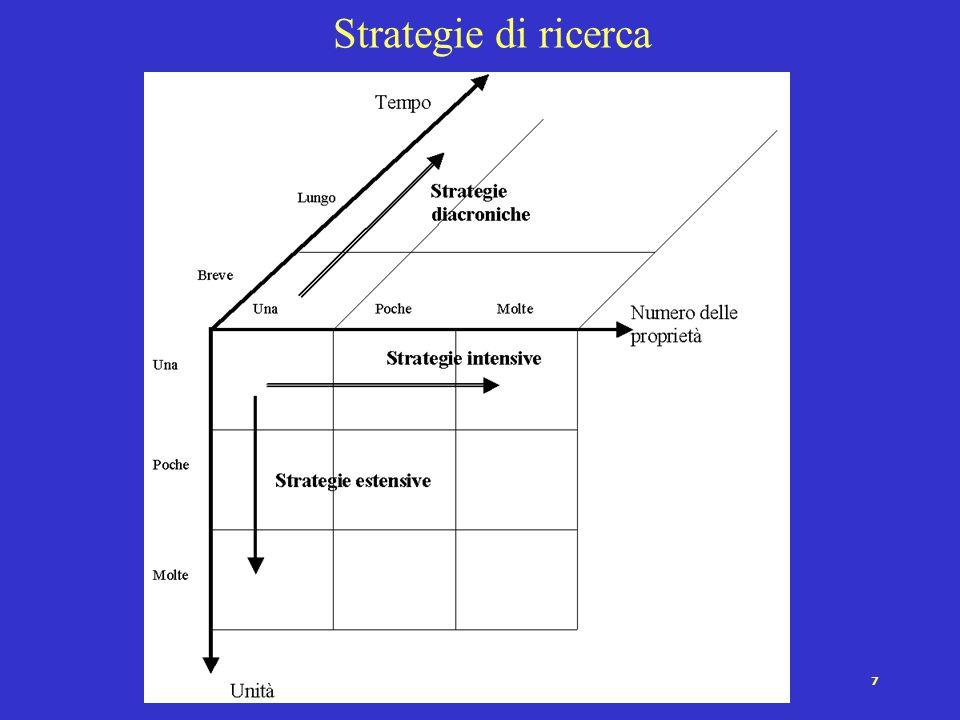 17 I problemi del rapporto concetto-indicatore-operazionalizzazione I concetti, in particolare quelli più astratti, non hanno un rapporto univoco con i loro indicatori.