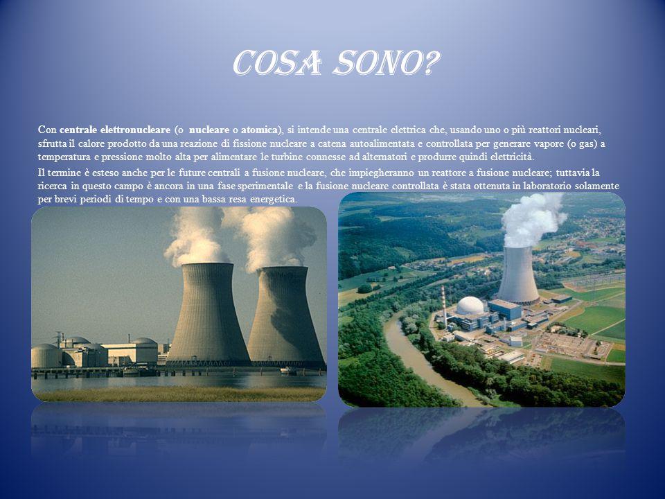 COSA SONO? Con centrale elettronucleare (o nucleare o atomica), si intende una centrale elettrica che, usando uno o più reattori nucleari, sfrutta il