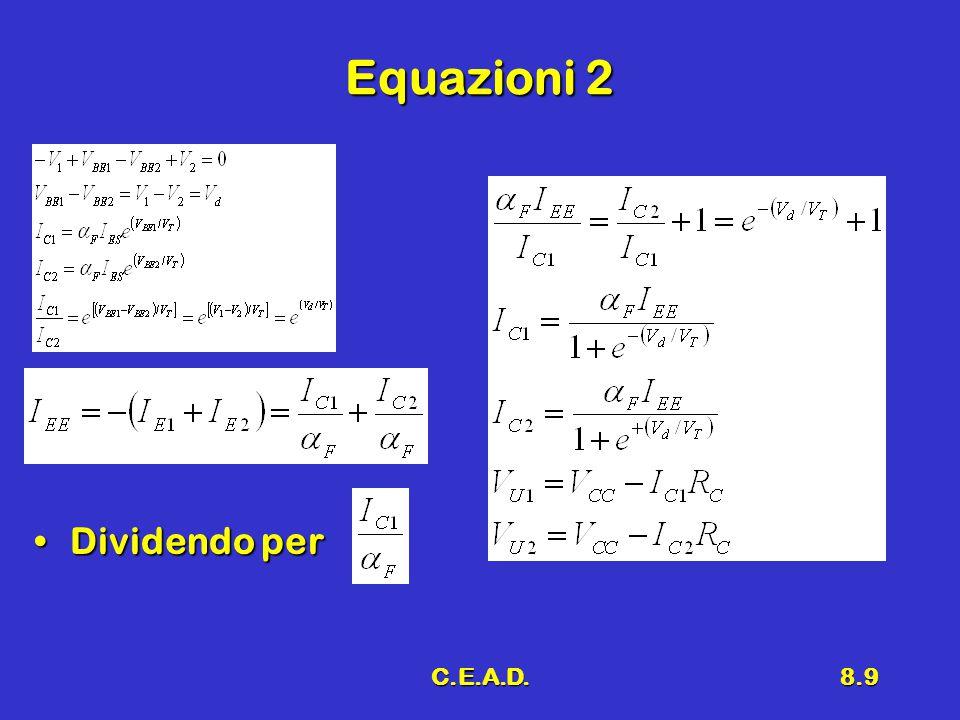 C.E.A.D.8.9 Equazioni 2 Dividendo perDividendo per