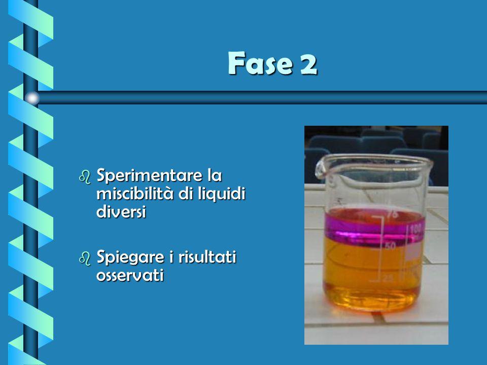 Fase 2 b La non miscibilità dei solventi può essere sfruttata mediante imbuto separatore