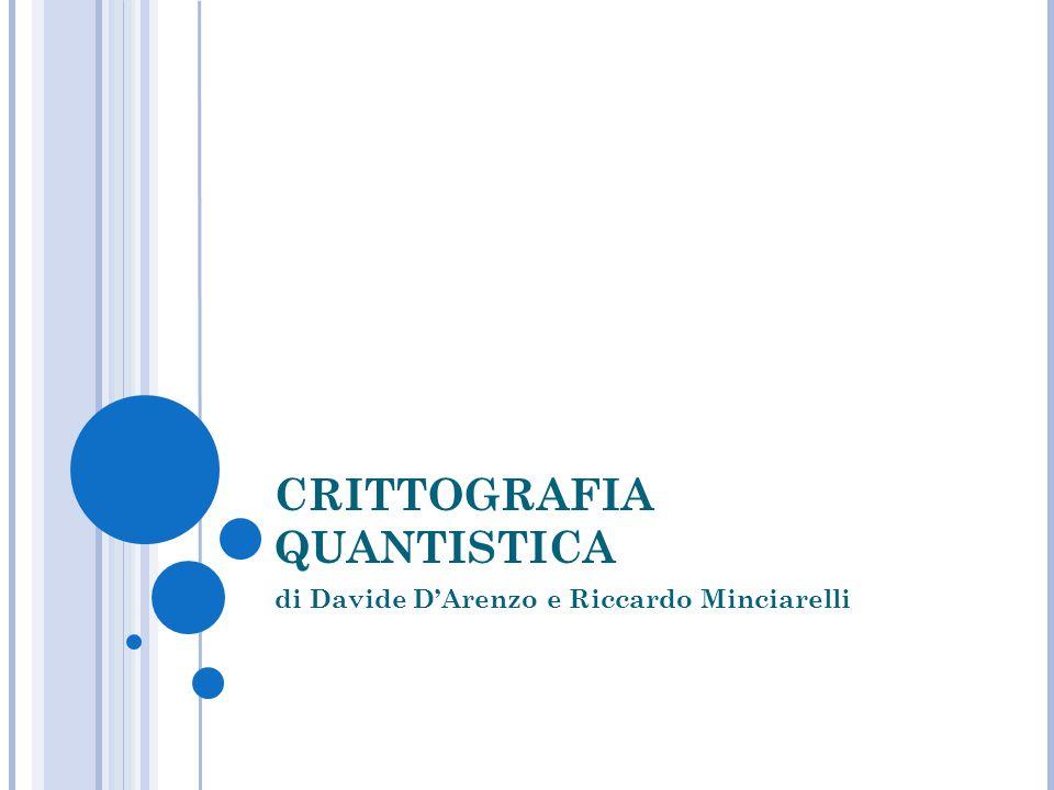 CRITTOGRAFIA QUANTISTICA di Davide D'Arenzo e Riccardo Minciarelli