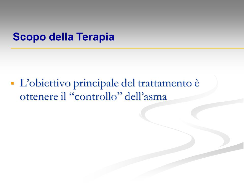 PROGETTO MONDIALE ASMA: PROGETTO MONDIALE ASMA: G IN A lobal itiative for sthma