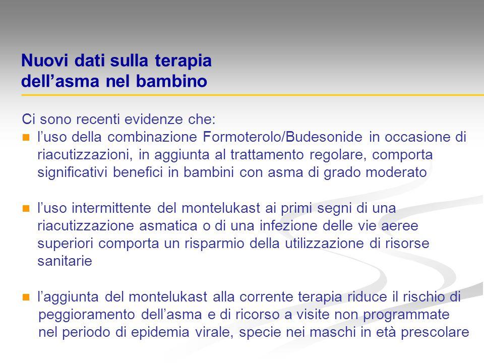 Ci sono recenti evidenze che: l'uso della combinazione Formoterolo/Budesonide in occasione di riacutizzazioni, in aggiunta al trattamento regolare, co