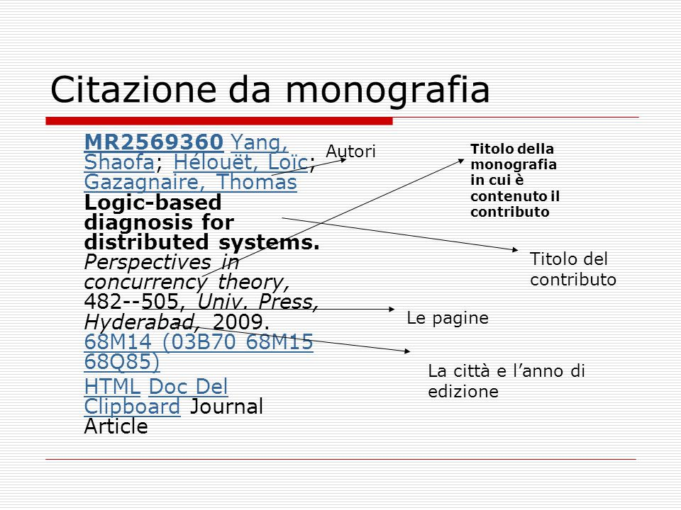 Citazione da monografia MR2569360MR2569360 Yang, Shaofa; Hélouët, Loïc; Gazagnaire, Thomas Logic-based diagnosis for distributed systems.