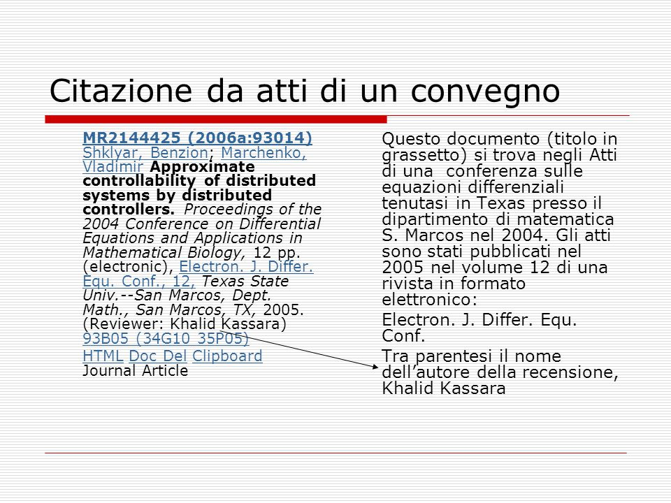 Citazione da atti di un convegno MR2144425 (2006a:93014) Shklyar, BenzionMR2144425 (2006a:93014) Shklyar, Benzion; Marchenko, Vladimir Approximate controllability of distributed systems by distributed controllers.