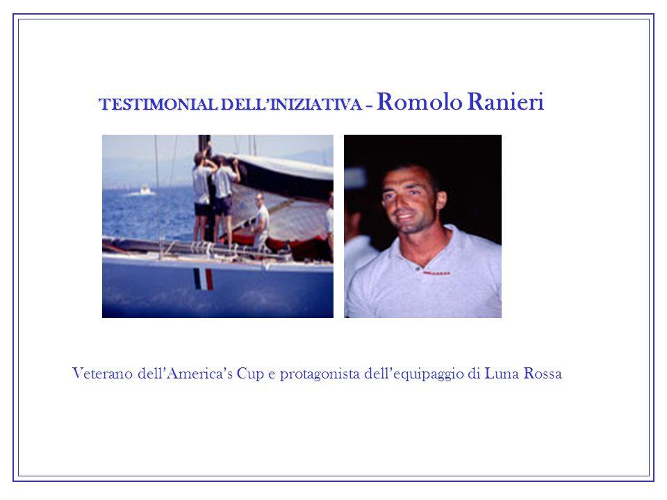 TESTIMONIAL DELL'INIZIATIVA – TESTIMONIAL DELL'INIZIATIVA – Romolo Ranieri Veterano dell'America's Cup e protagonista dell'equipaggio di Luna Rossa