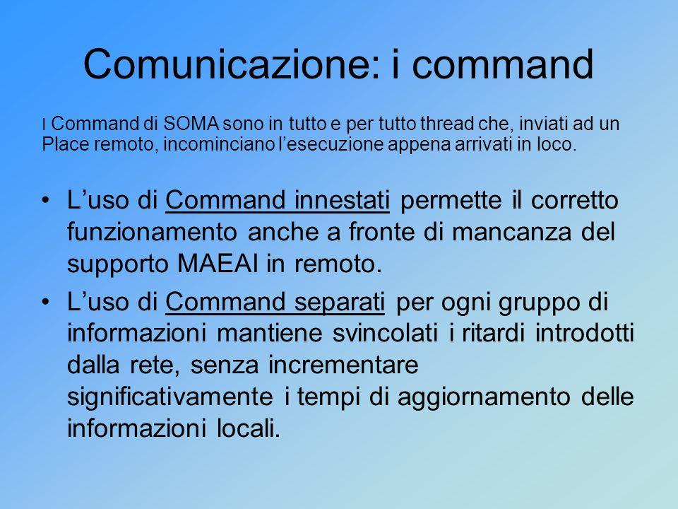 Comunicazione: i command L'uso di Command innestati permette il corretto funzionamento anche a fronte di mancanza del supporto MAEAI in remoto.