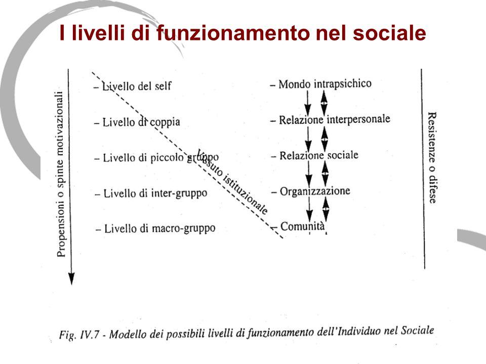 I livelli di funzionamento nel sociale