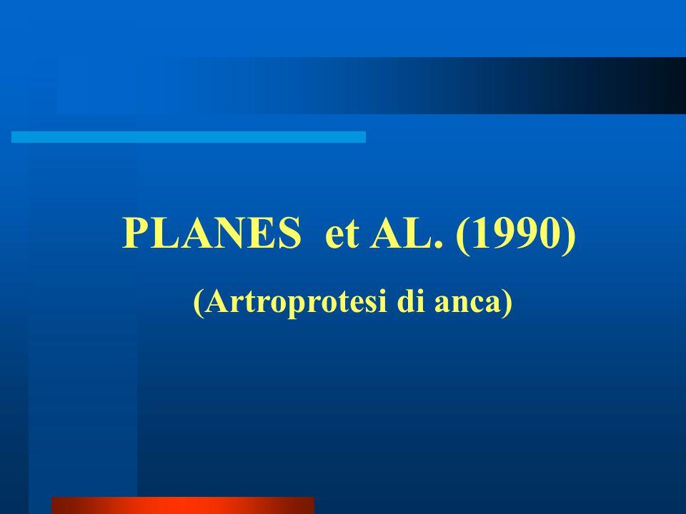 PLANES et AL. (1990) (Artroprotesi di anca)