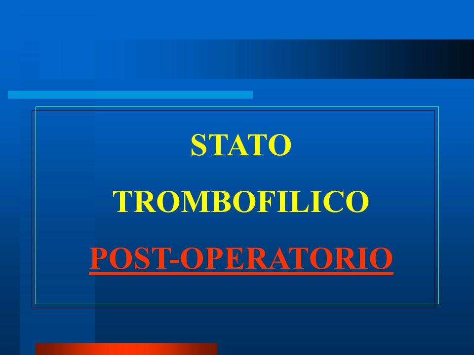 STATO TROMBOFILICO POST-OPERATORIO
