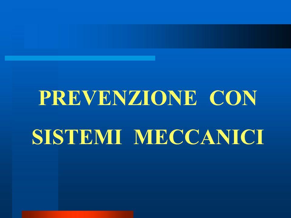 PREVENZIONE CON SISTEMI MECCANICI