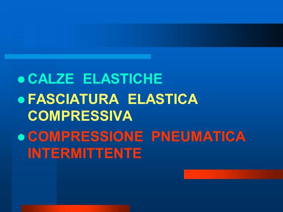 CALZE ELASTICHE FASCIATURA ELASTICA COMPRESSIVA COMPRESSIONE PNEUMATICA INTERMITTENTE
