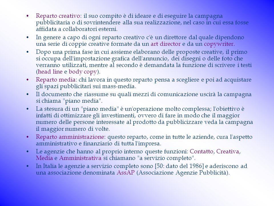 Tipologia di un'agenzia pubblicitaria Tipologia di un'agenzia pubblicitaria Come è organizzata un'agenzia di pubblicità? Anche se non tutte le agenzie