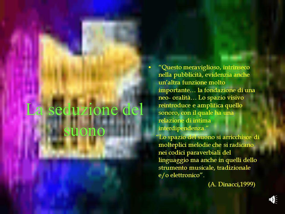 """Le """"canzoni interiori"""" """"Un universo pubblicitario è anche un universo formale, una rete di forme, comprese quelle foniche… Queste forme circolano, """"so"""