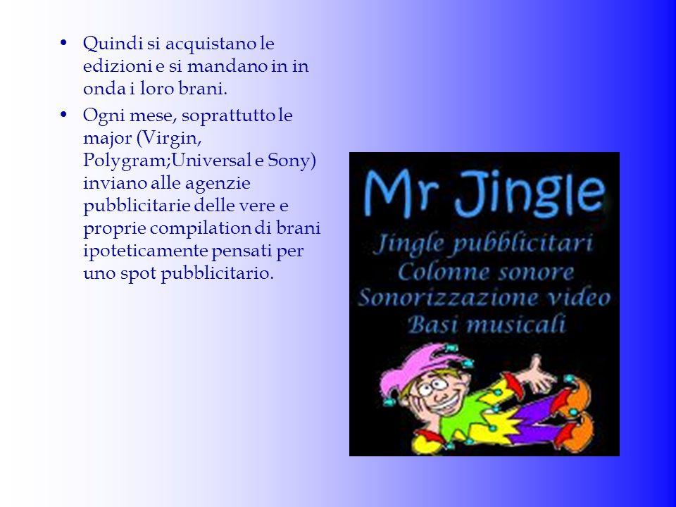 """Fino a cinque anni fa il trattamento della musica era essenzialmente legata ad un """"jingle"""", un pezzo musicale costruito ad hoc per quella determinata"""