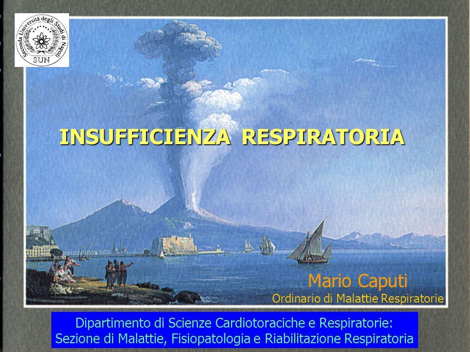 INSUFFICIENZA RESPIRATORIA Mario Caputi Ordinario di Malattie Respiratorie Dipartimento di Scienze Cardiotoraciche e Respiratorie: Sezione di Malattie
