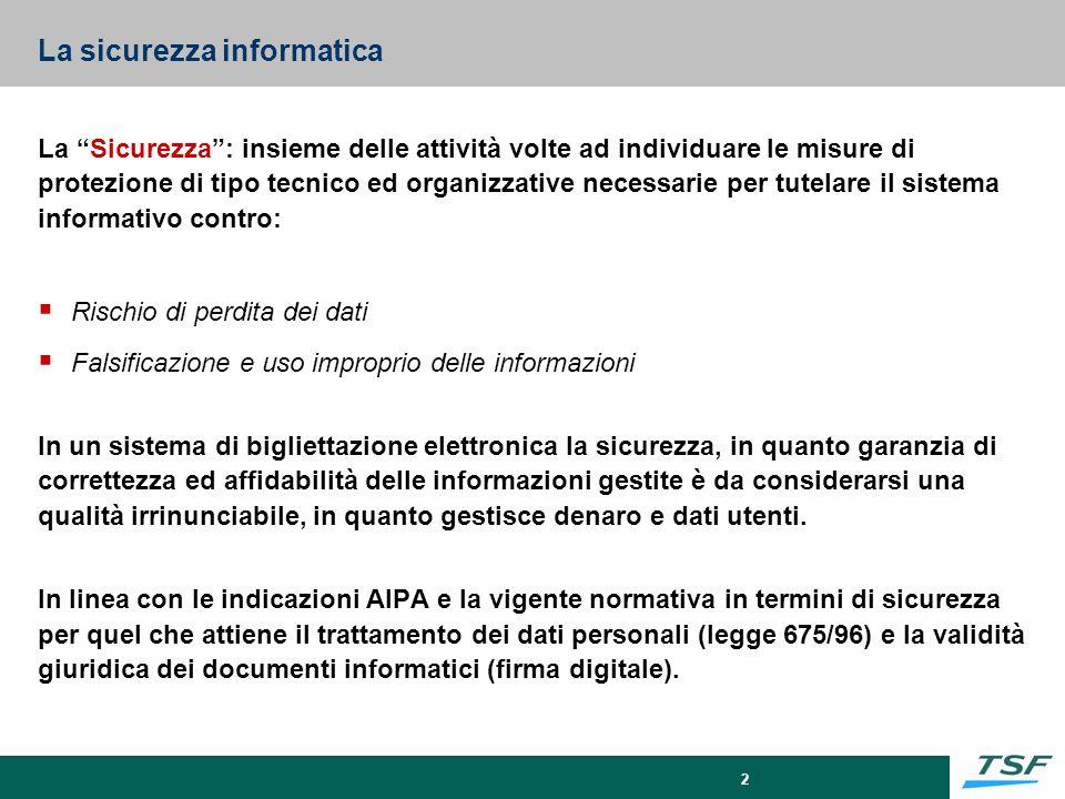 3 Segretezza Disponi- bilità Integrità furti di informazioni virus danni accident.