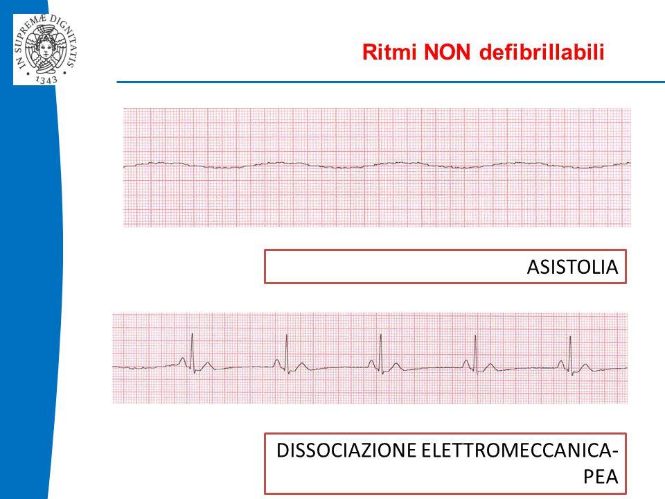 ASISTOLIA Ritmi NON defibrillabili DISSOCIAZIONE ELETTROMECCANICA- PEA