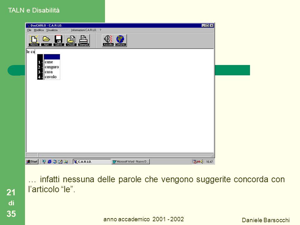 Daniele Barsocchi anno accademico 2001 - 2002 C.A.R.L.O.