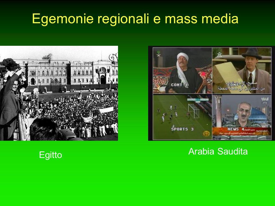 Egemonie regionali e mass media Egitto Arabia Saudita