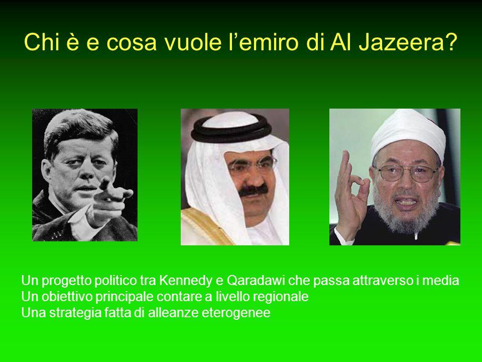 Chi è e cosa vuole l'emiro di Al Jazeera? Un progetto politico tra Kennedy e Qaradawi che passa attraverso i media Un obiettivo principale contare a l