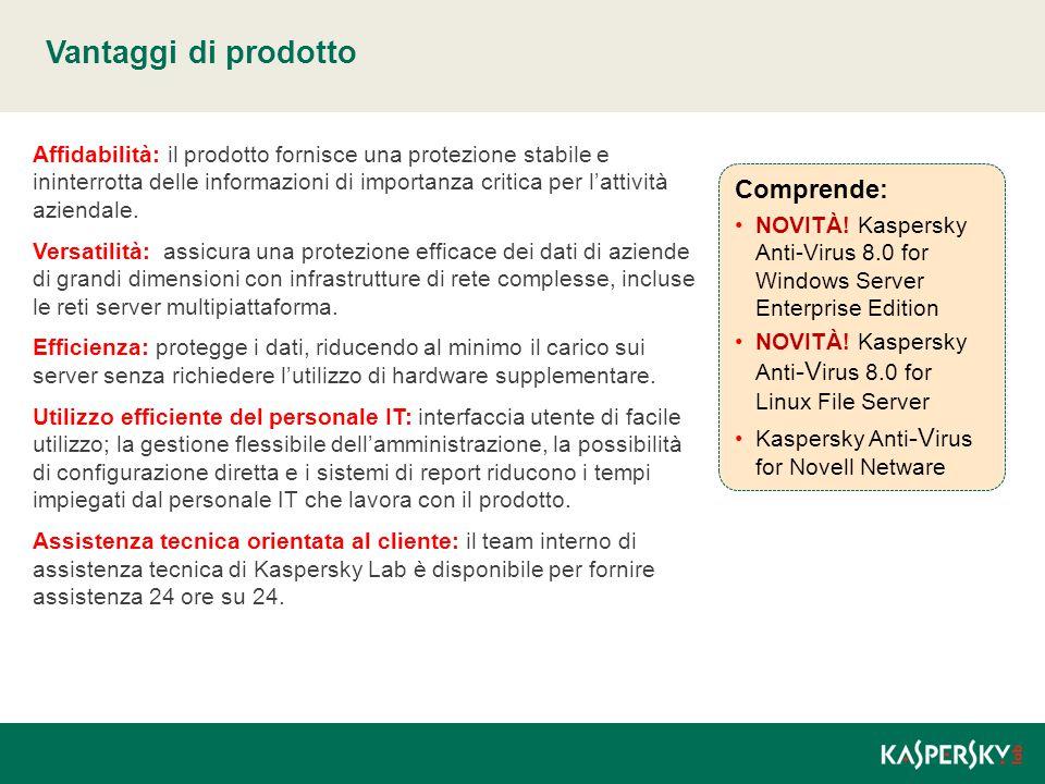 Vantaggi di prodotto Affidabilità: il prodotto fornisce una protezione stabile e ininterrotta delle informazioni di importanza critica per l'attività