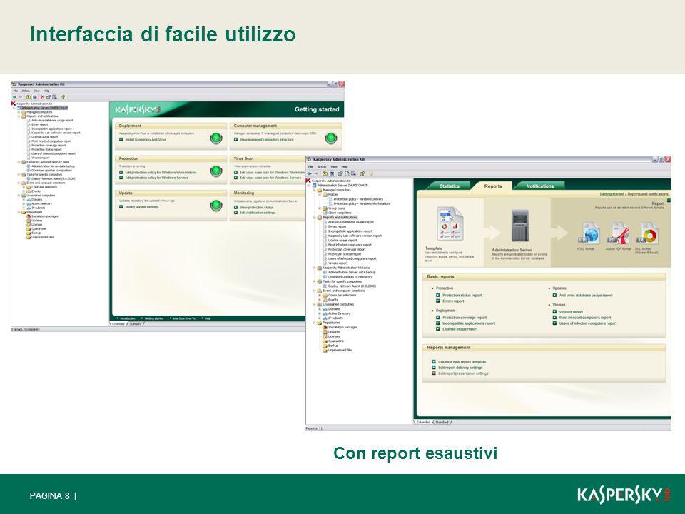 PAGINA 8 | Interfaccia di facile utilizzo Con report esaustivi