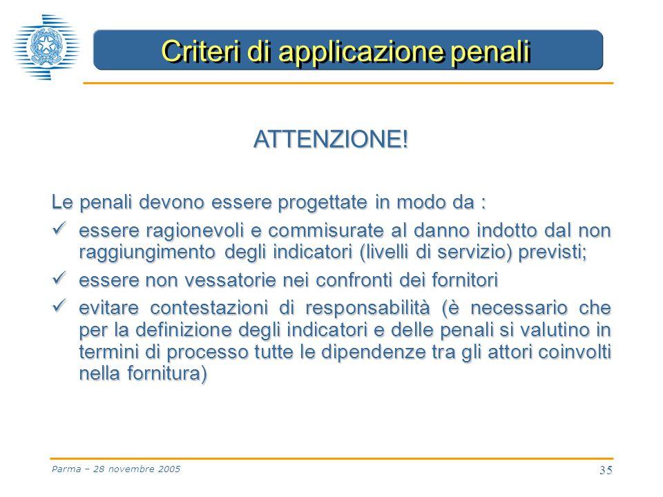 35 Parma – 28 novembre 2005 ATTENZIONE.