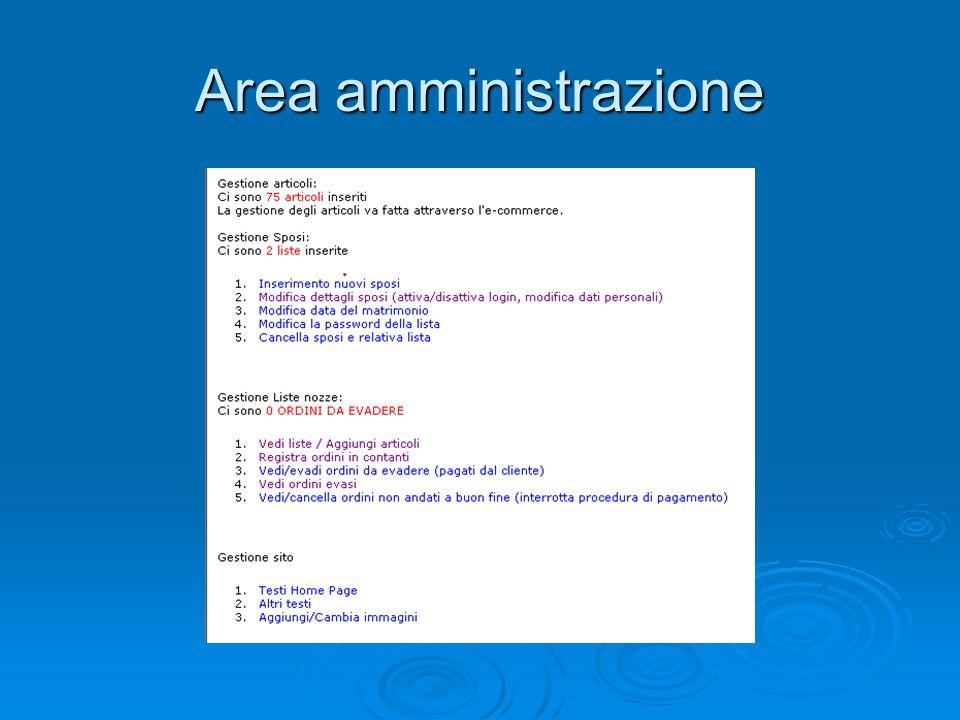 Area amministrazione