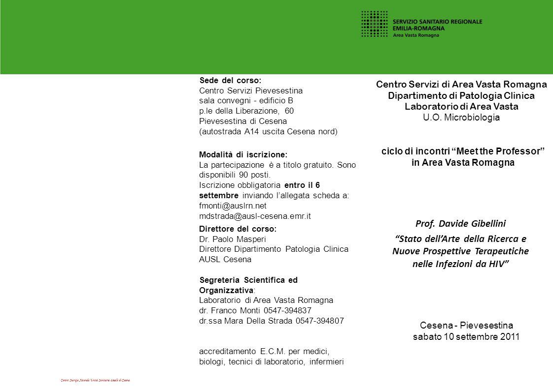 Centro Stampa Azienda Unità Sanitaria Locale di Cesena accreditamento E.C.M. per medici, biologi, tecnici di laboratorio, infermieri Centro Servizi di
