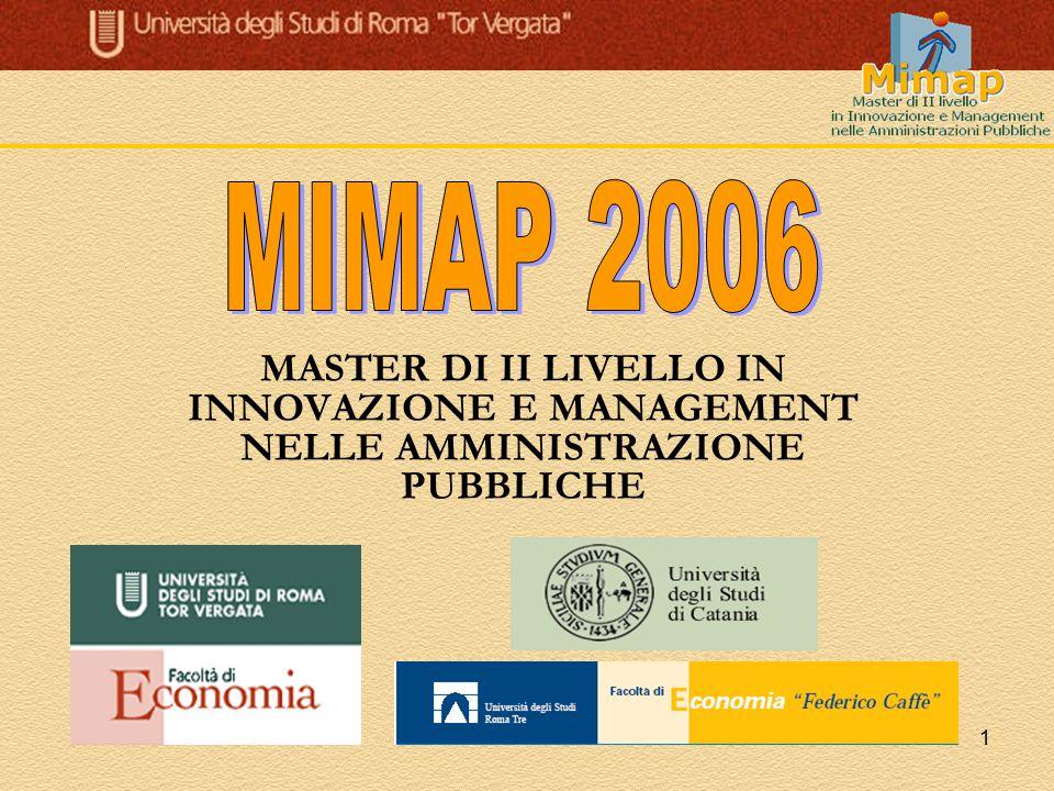1 MASTER DI II LIVELLO IN INNOVAZIONE E MANAGEMENT NELLE AMMINISTRAZIONE PUBBLICHE