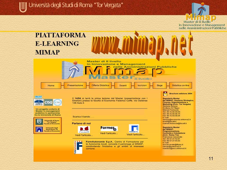 11 PIATTAFORMA E-LEARNING MIMAP