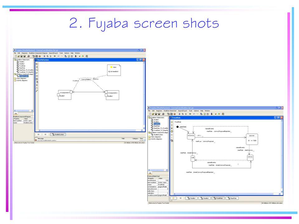2. Fujaba screen shots