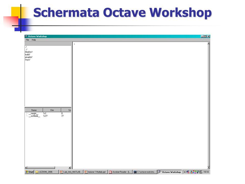 Schermata Octave Workshop