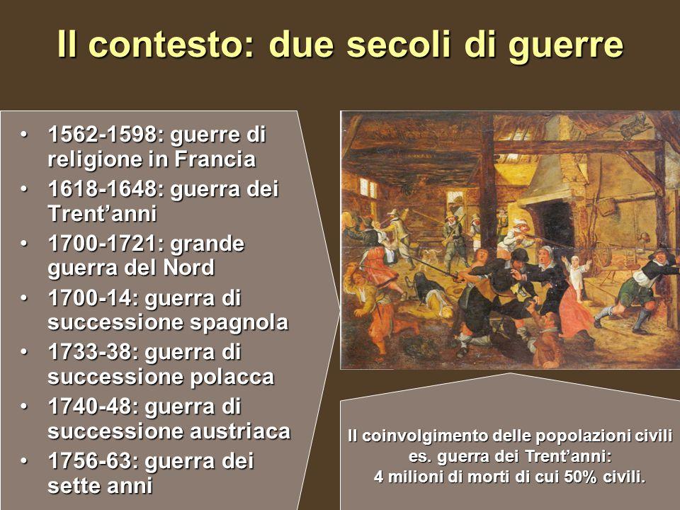 Il contesto: due secoli di guerre 1562-1598: guerre di religione in Francia1562-1598: guerre di religione in Francia 1618-1648: guerra dei Trent'anni1