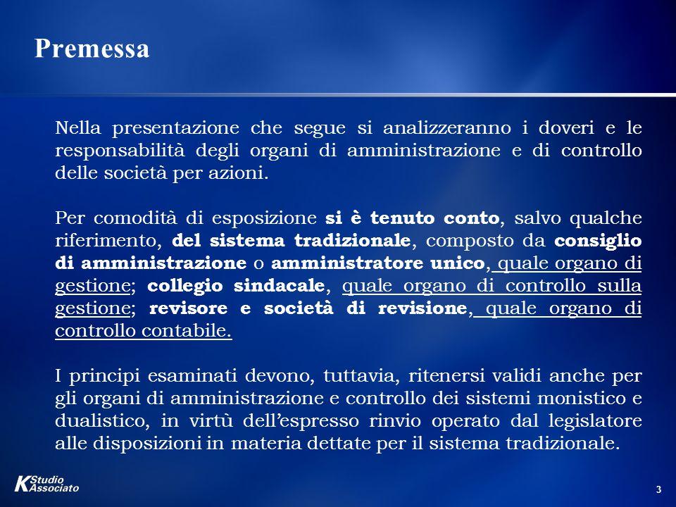 4 L'Amministrazione della Società La gestione dell'impresa:l'art.