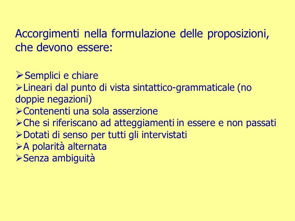 Accorgimenti nella formulazione delle proposizioni, che devono essere:  Semplici e chiare  Lineari dal punto di vista sintattico-grammaticale (no do