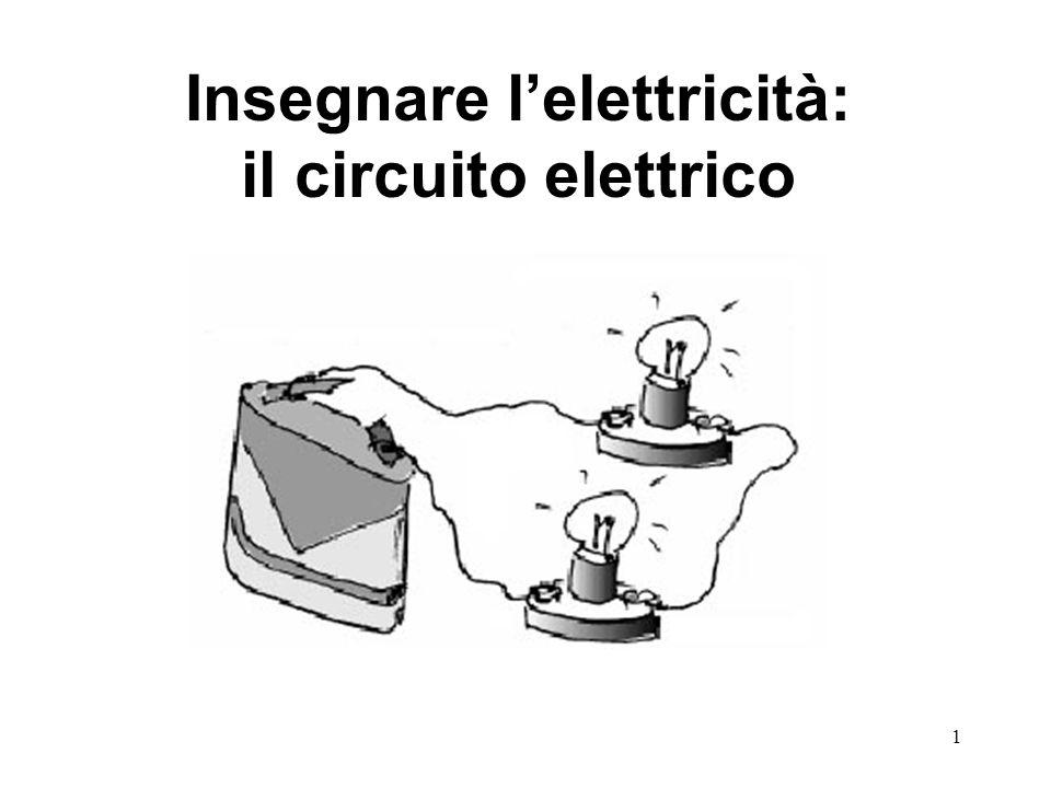 1 Insegnare l'elettricità: il circuito elettrico