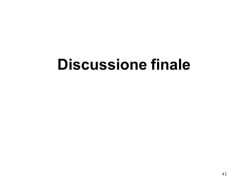 41 Discussione finale