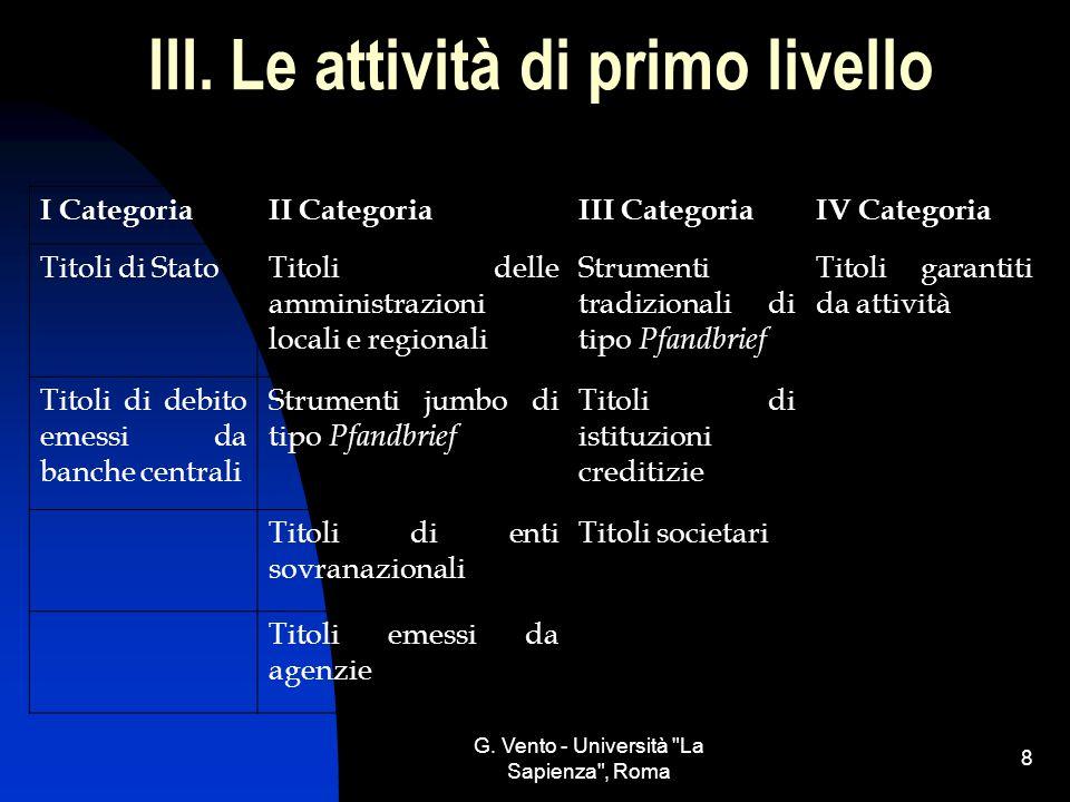 G.Vento - Università La Sapienza , Roma 8 III.