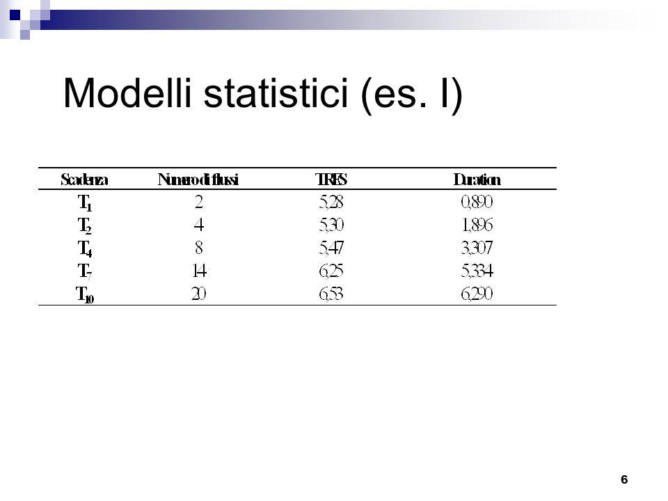 6 Modelli statistici (es. I)
