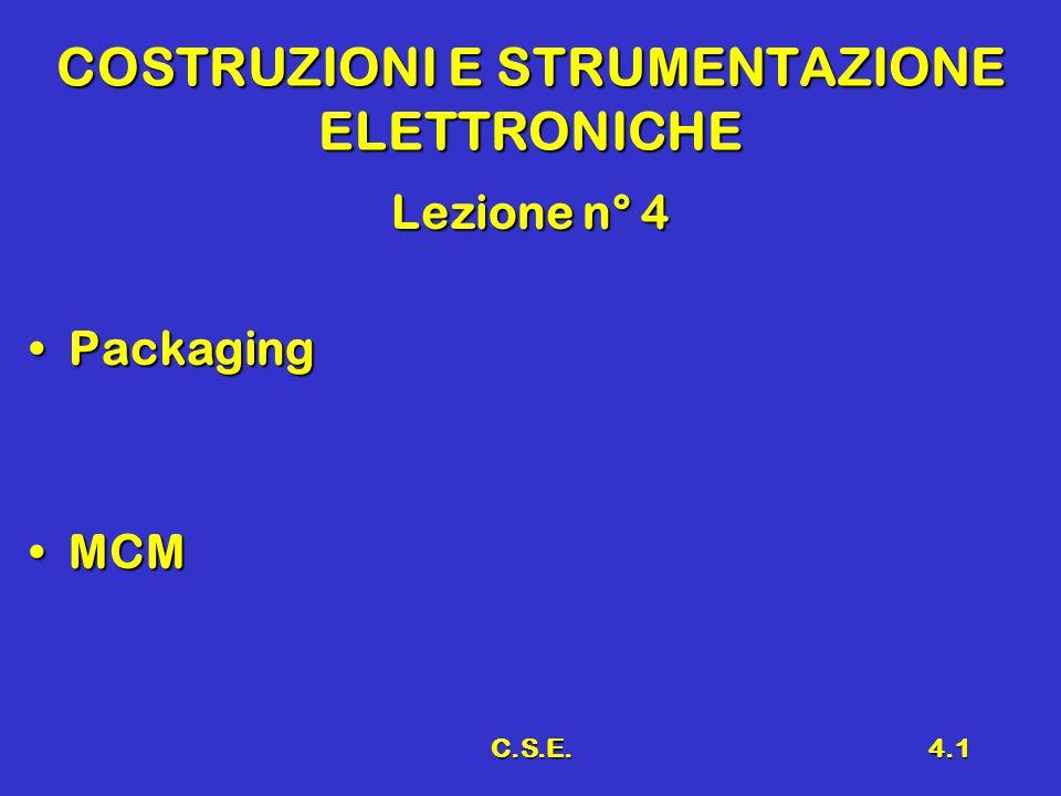C.S.E.4.1 COSTRUZIONI E STRUMENTAZIONE ELETTRONICHE Lezione n° 4 PackagingPackaging MCMMCM