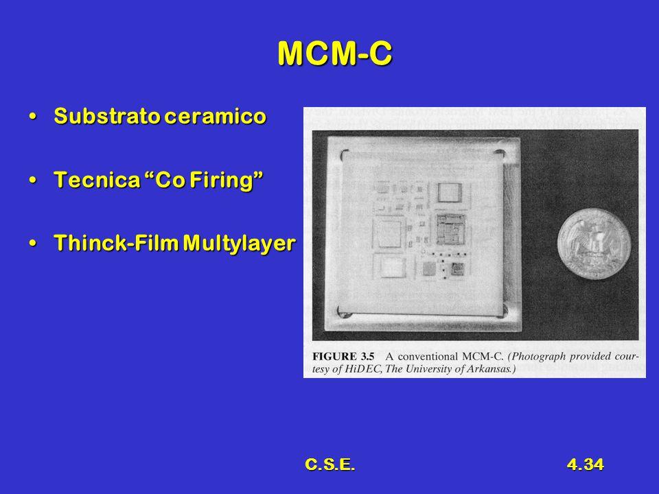 C.S.E.4.34 MCM-C Substrato ceramicoSubstrato ceramico Tecnica Co Firing Tecnica Co Firing Thinck-Film MultylayerThinck-Film Multylayer