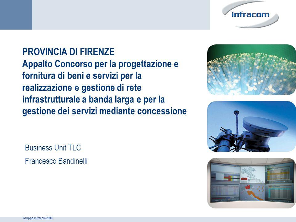 Gruppo Infracom 2006 PROVINCIA DI FIRENZE Appalto Concorso per la progettazione e fornitura di beni e servizi per la realizzazione e gestione di rete