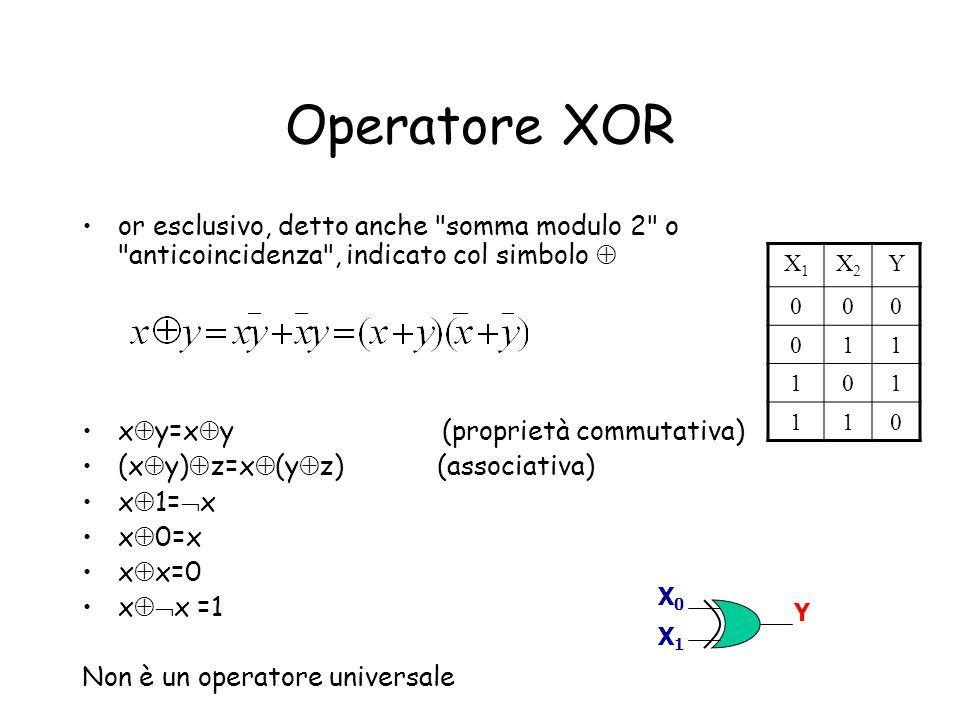Operatore XOR or esclusivo, detto anche