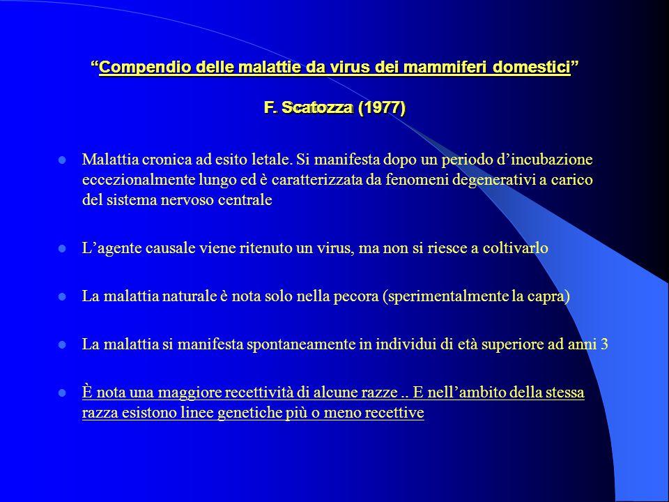 Compendio delle malattie da virus dei mammiferi domestici F.