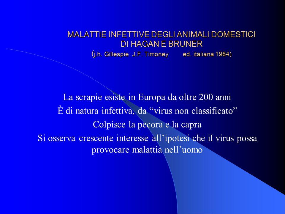 MALATTIE INFETTIVE DEGLI ANIMALI DOMESTICI DI HAGAN E BRUNER ( j.h.