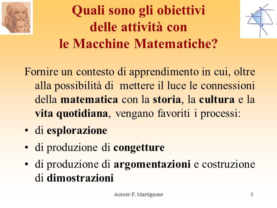 Quali sono gli obiettivi delle attività con le Macchine Matematiche.